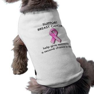 Camiseta del perro del CÁNCER de PECHO de la AYUDA Camisa De Perro
