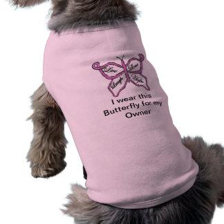 Camiseta del perro del cáncer de pecho ropa macota