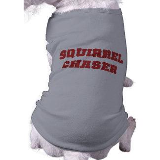 Camiseta del perro del cazador de la ardilla camisetas mascota