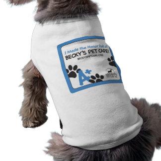 Camiseta del perro del cuidado de animales de comp playera sin mangas para perro