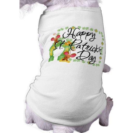 Camiseta del perro del día de St Patrick feliz Ropa Para Mascota