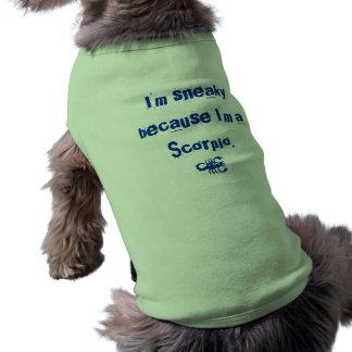 Camiseta del perro del escorpión playera sin mangas para perro