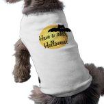 Camiseta del perro del feliz Halloween Camisetas De Perro