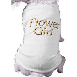 Camiseta del perro del florista playera sin mangas para perro