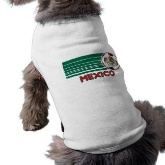 Camiseta del perro del fútbol de México Camisetas De Perro