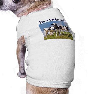 Camiseta del perro del ganado playera sin mangas para perro