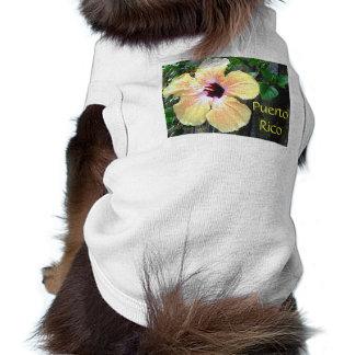 Camiseta del perro del hibisco de Puerto Rico Camiseta De Perrito