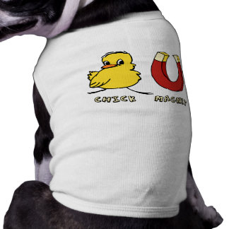 Camiseta del perro del imán del polluelo playera sin mangas para perro