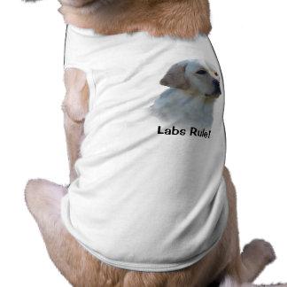 Camiseta del perro del labrador retriever playera sin mangas para perro