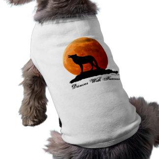 Camiseta del perro del lobo y de la Luna Llena Camisas De Mascota