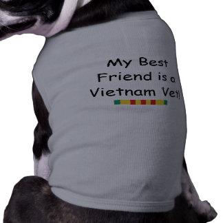 Camiseta del perro del mejor amigo del veterinario playera sin mangas para perro