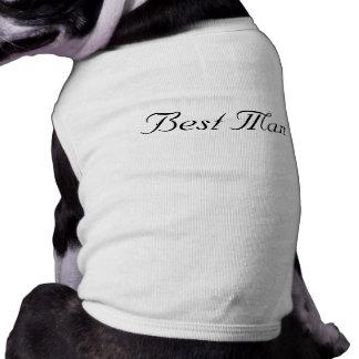 """Camiseta del perro del """"mejor hombre"""" playera sin mangas para perro"""