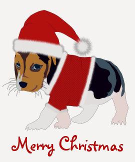 Camiseta del perro del navidad - personalizable remeras