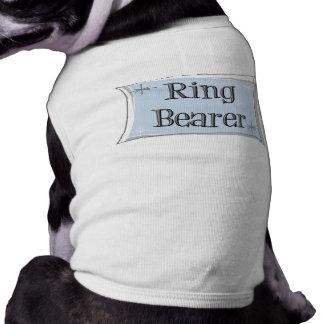 Camiseta del perro del portador de anillo playera sin mangas para perro