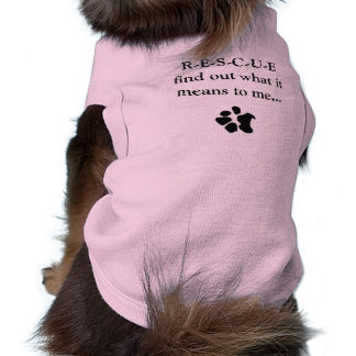 Camiseta del perro del rescate playera sin mangas para perro