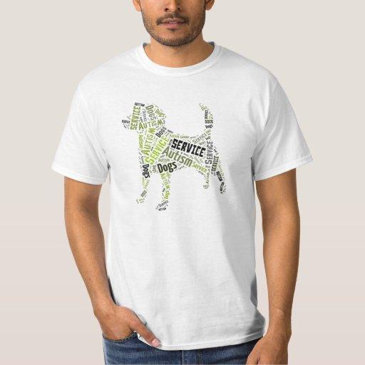 Camiseta del perro del servicio del autismo