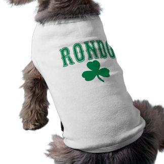 Camiseta del perro del verde del Rondo de Rajon Playera Sin Mangas Para Perro