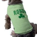 Camiseta del perro del verde del Rondo de Rajon Camisas De Mascota