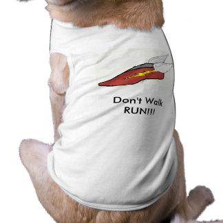 camiseta del perro del wingedfoot camiseta de perro