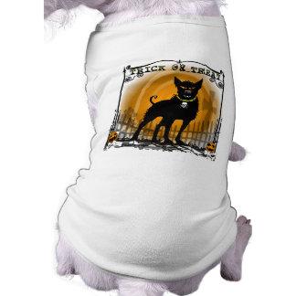 Camiseta del perro - perro del mal del truco o de  playera sin mangas para perro