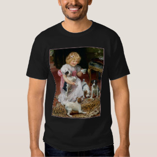 Camiseta del perro:  Tiempo del té para los Playeras