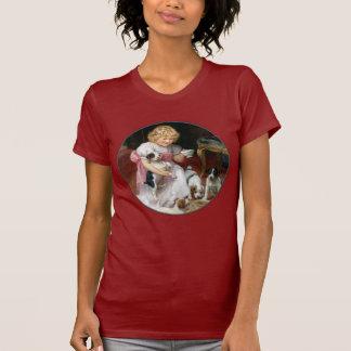 Camiseta del perro:  Tiempo del té para los Poleras