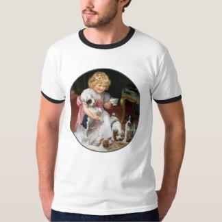 Camiseta del perro:  Tiempo del té para los Remeras