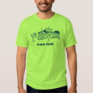 Camiseta del personal del parque del Peony Polera