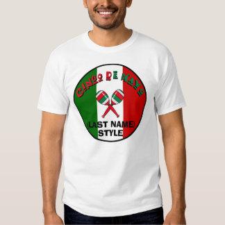 Camiseta del personalizable de Cinco de Mayo Polera