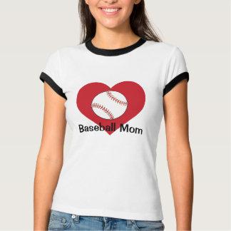 Camiseta del personalizable de la mamá del béisbol