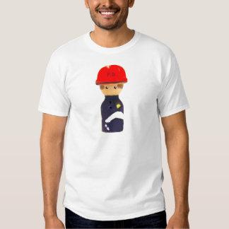 camiseta del personalizable del bombero camisas