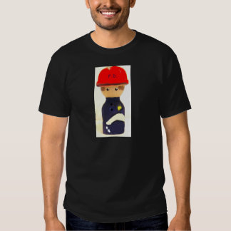 camiseta del personalizable del bombero playeras