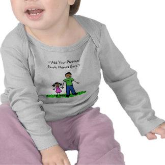Camiseta del personalizado del arte del padre y de