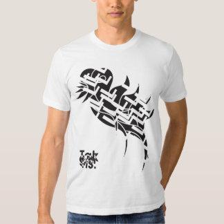 Camiseta del personalizado del bnw de la pluma de remeras