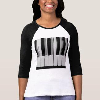 Camiseta del personalizado del teclado de piano