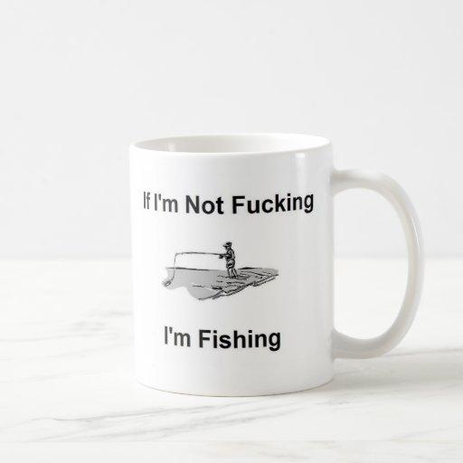 Camiseta del pescador de la pesca taza de café