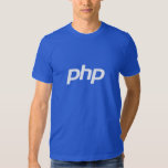 Camiseta del PHP (azul) Playeras