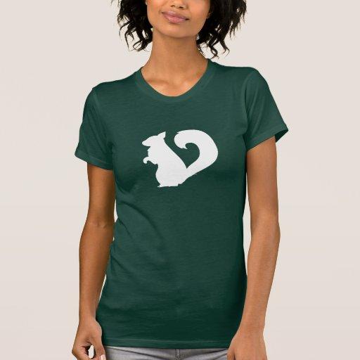 Camiseta del pictograma de la ardilla poleras
