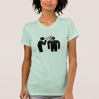 Camiseta del pictograma de la infección playera