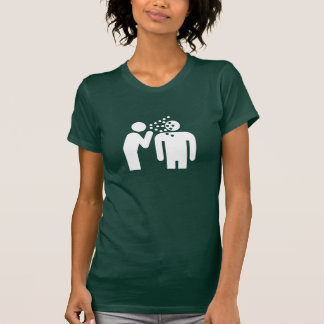 Camiseta del pictograma de la infección remeras