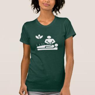 Camiseta del pictograma de la medicina alternativa playera