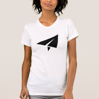 Camiseta del pictograma del aeroplano de papel