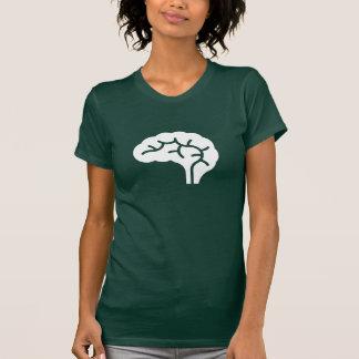 Camiseta del pictograma del cerebro humano