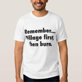 Camiseta del pillaje playera
