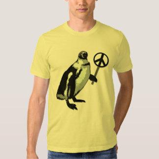 Camiseta del pingüino de la paz remeras