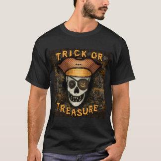 Camiseta del pirata de Halloween del truco o de la