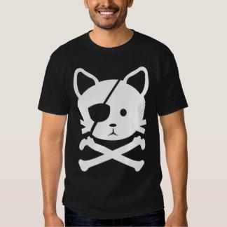 Camiseta del pirata del gato playera