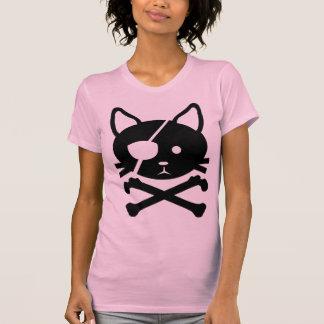 Camiseta del pirata del gato remeras