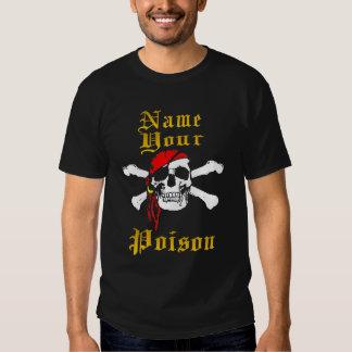 Camiseta del pirata playera