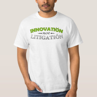 Camiseta del pleito de la innovación NO